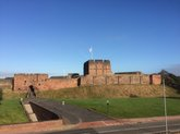 Carlisle castle from the Tullie House 'Lookout'.