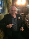 Mark Freeman attending a re-enactemtn of a Chartist meeting at the Red Lion pub, Soho