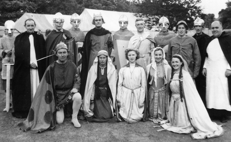 Performers playing Normans in the 1951 Carlisle pageant