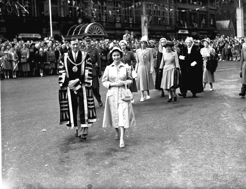 Princess Margaret at the Carlisle Civic Week, 1951