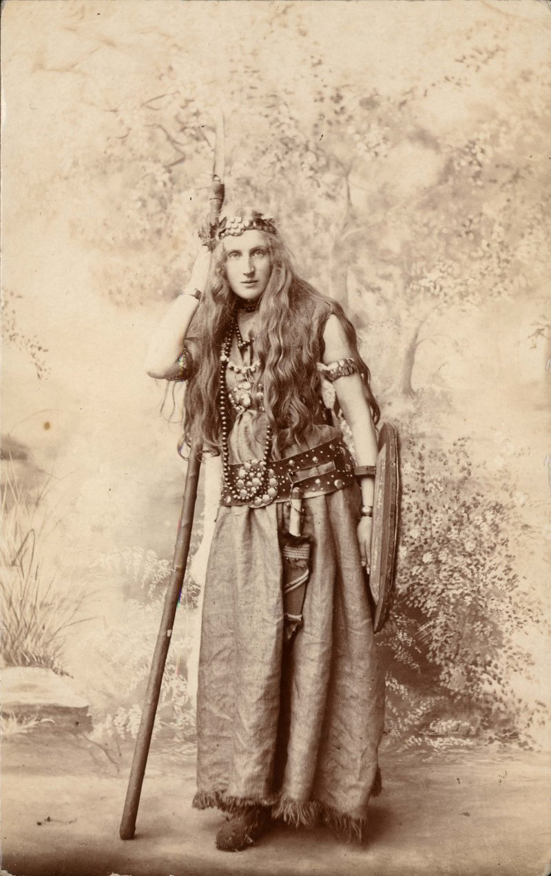Warrior Woman from the 1907 St Albans Pageant