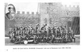 Band of H.M. Royal Marines (Portsmouth), with inset of bandmaster Lieut. Geo. Miller