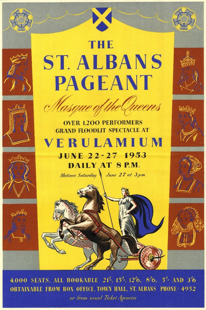 A poster advertising the 1953 St Albans pageant.