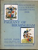 Programme for 1938 Pageant of Birmingham