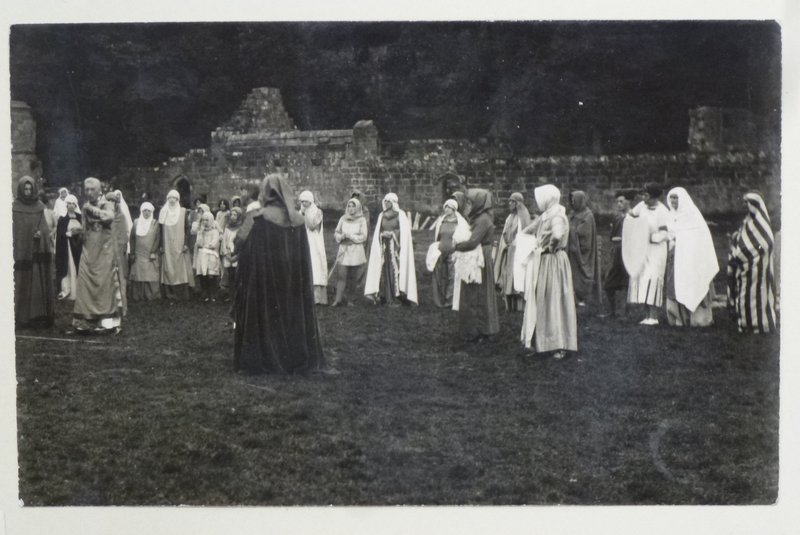A scene from the Mount Grace Priory Pageant, courtesy of Robinson Library, Newcastle University
