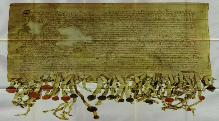 Arbroath, Image of the The 'Tyninghame' copy of the Declaration