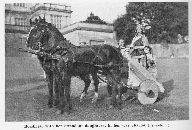Boadicea in the Nottingham pageant 1935