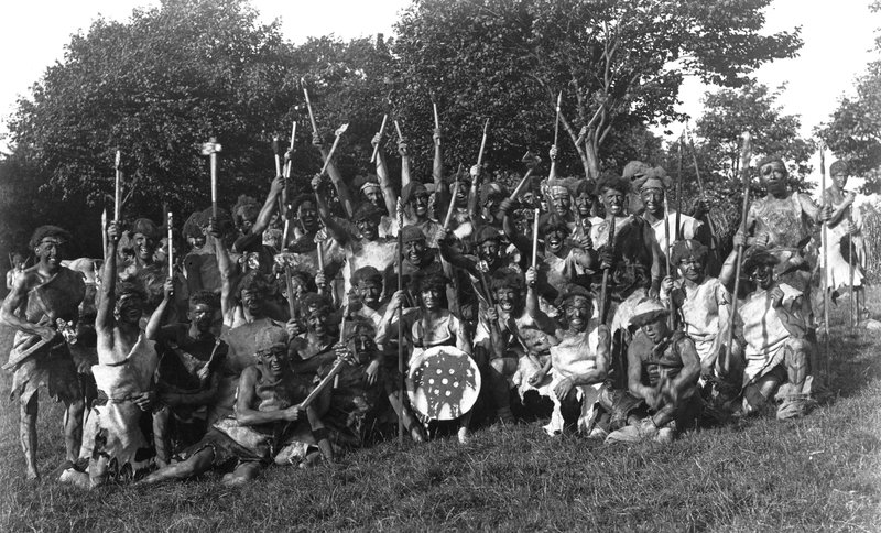 Carlisle Pageant, 1928: Picts played by the Border Regiment