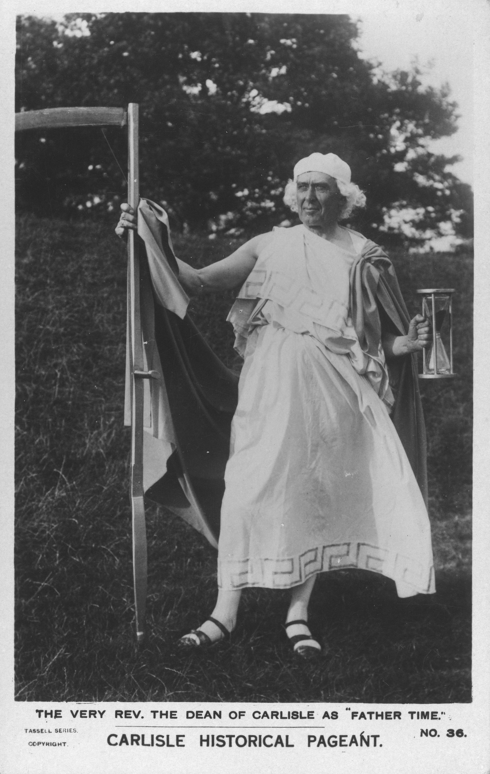Carlisle Pageant, 1928: Performer in the role of the narrator - Father Time