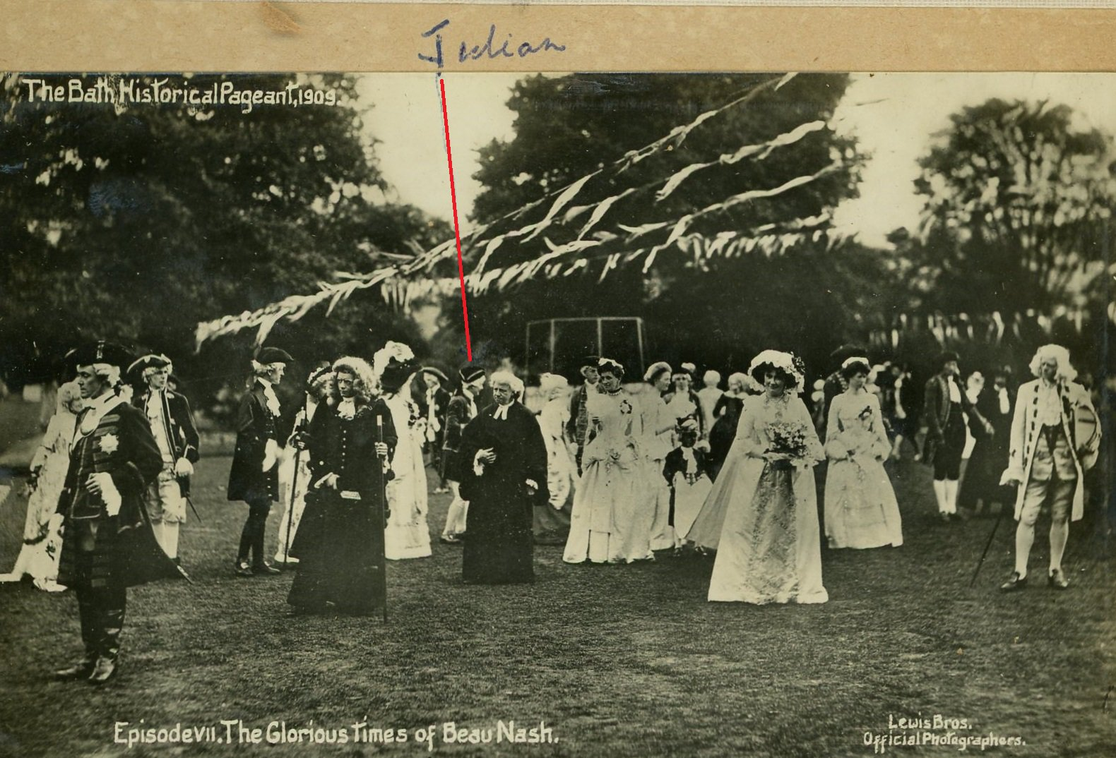 Julian Mockford in the Minuet at Bath Pageant 1909