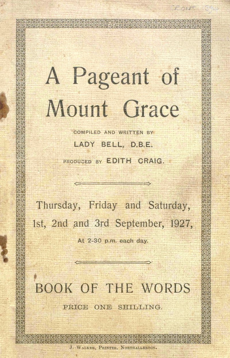 Mount Grace Pageant Book of Words