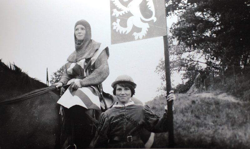 Two young performers in the Bury St Edmunds Pageant of 1959
