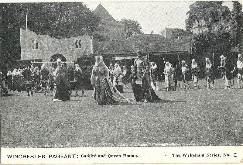 Canute and Emma in the Winchester National Pageant of 1908 (Wykeham series)