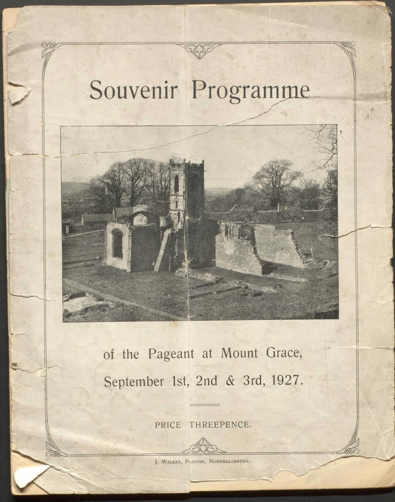 Souvenir Programme of Mount Grace Priory Pageant 1927