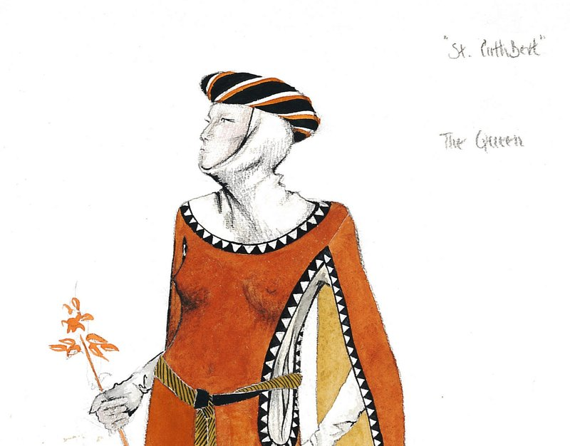 Illustration for a costume for the Queen, episode II, Carlisle 1977