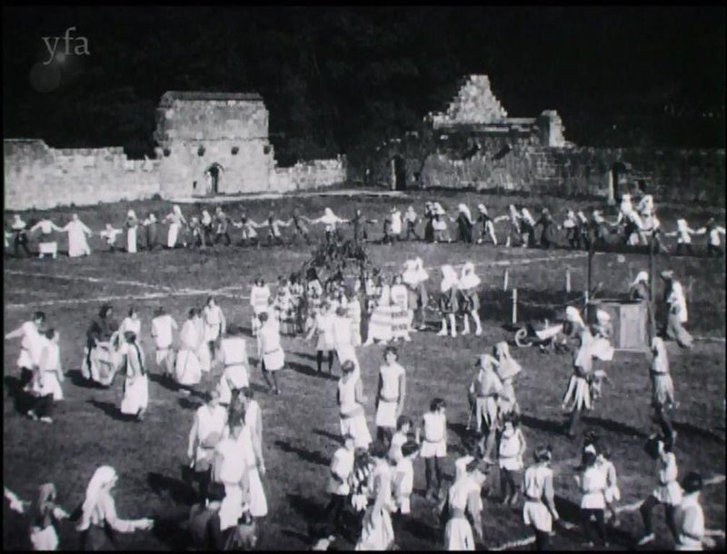 Pageant of Mount Grace players performing amidst the ruins of Mount Grace 2