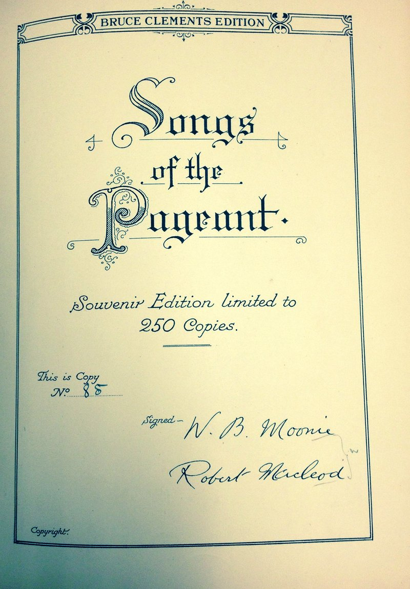 Scottish Historical Pageant (1927) - Front cover of music souvenir