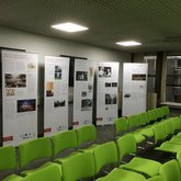 Exhibition boards set up and ready