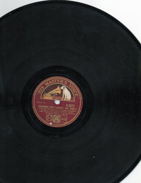 Live Recording on 78 rpm Record