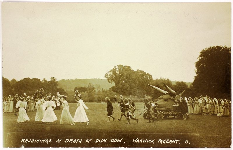 Postcard: Rejoicings at the death of the Dun Cow